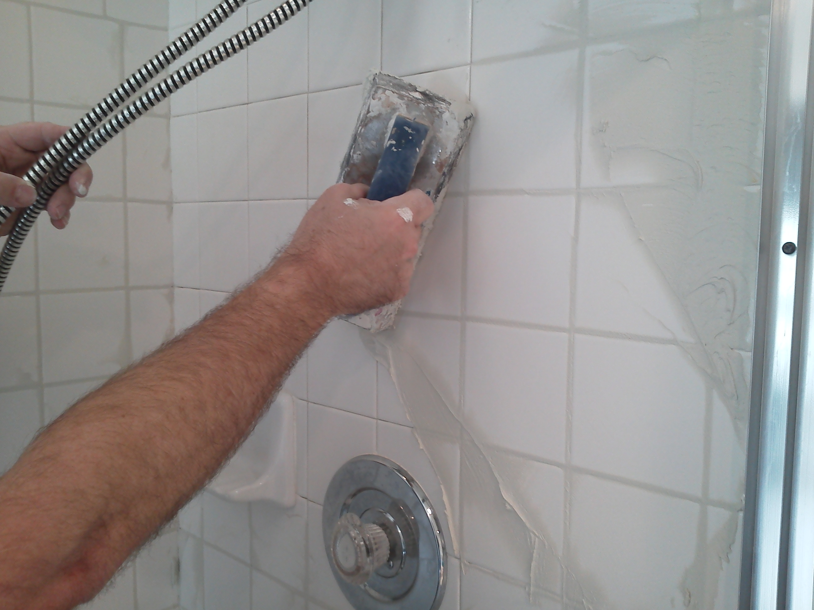 Regrouting Showers Is Something We Also Do.